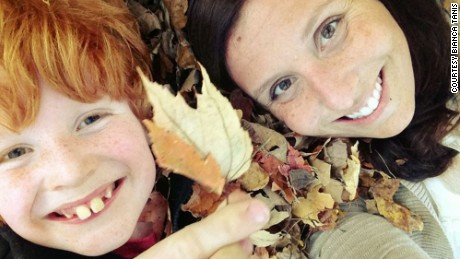 Opt-out activist Bianca Tanis and her son Charlie, 11.
