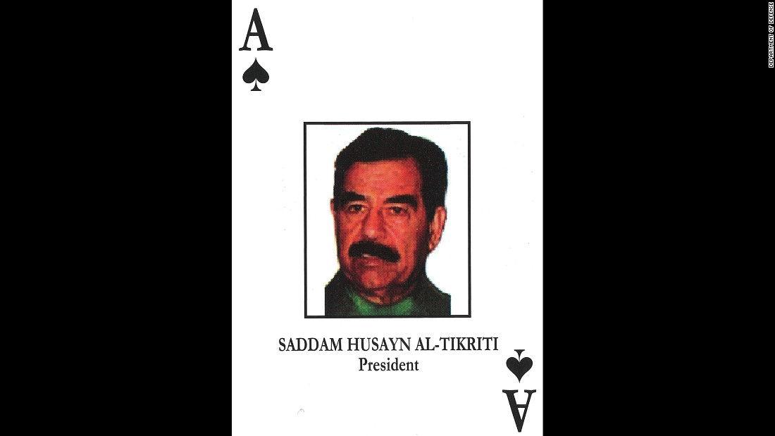 "Saddam Hussein<br />Former Iraqi President<br />December 13, 2003: Captured in a ""spider hole"" in Tikrit.<br />November 5, 2006: Sentenced to death.<br />December 30, 2006: Executed."