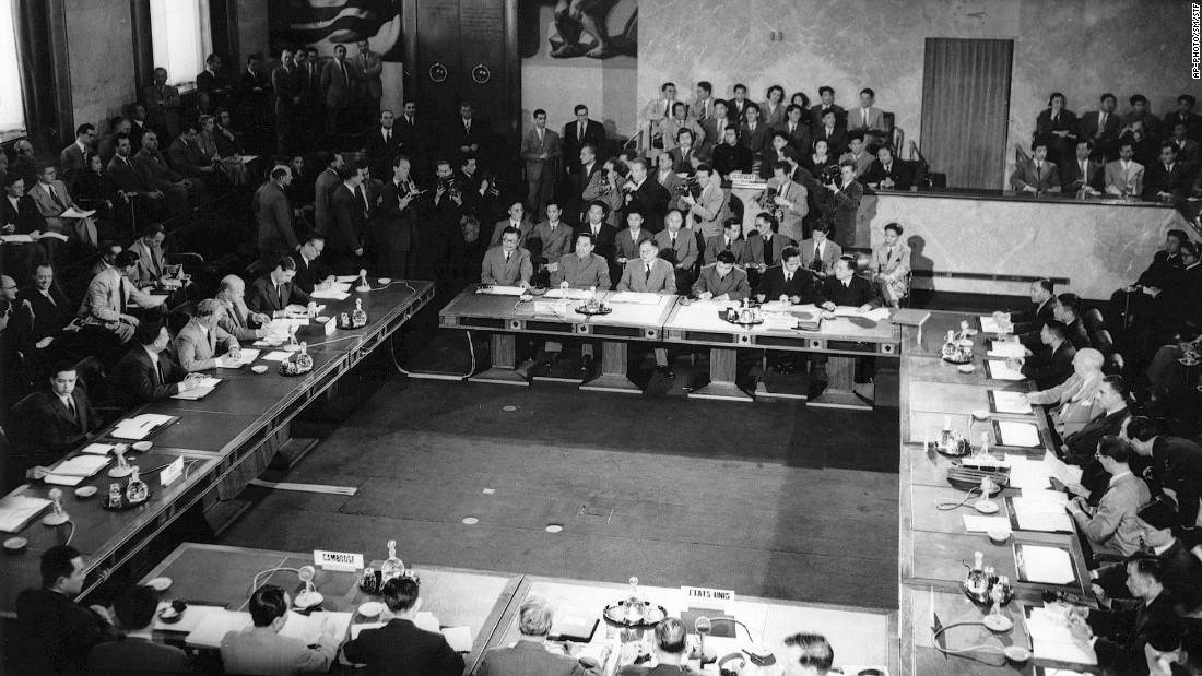 On July 21 1954 Vietnam Signs The Geneva Accords And Divides Into Two Countries