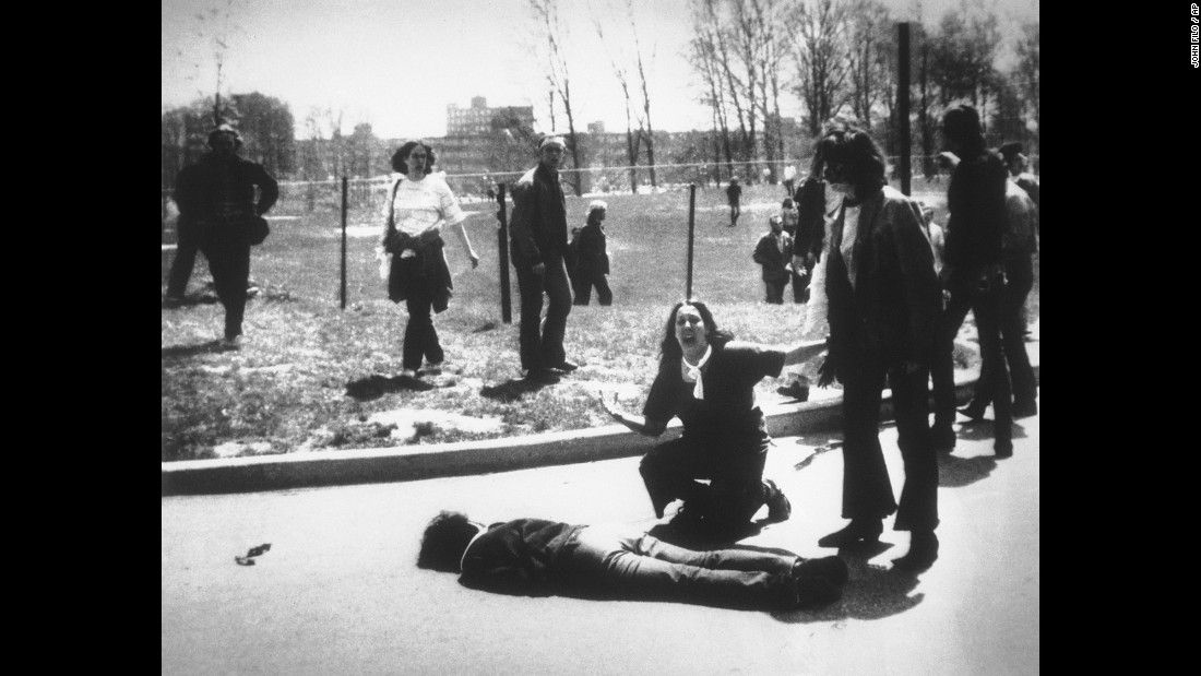 On May 4, 1970, National Guard units fired into a group of anti-war demonstrators at Kent State University in Ohio. The shots killed four students and wounded nine others. Anti-war demonstrations and riots occurred on hundreds of other campuses throughout May.