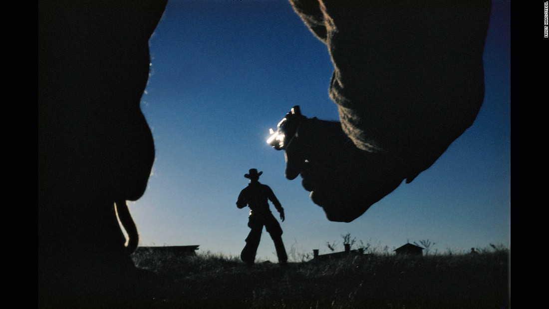 "Haas' photo from the 1958 Western ""The Big Country"" is as dramatic as any full-scale movie duel."