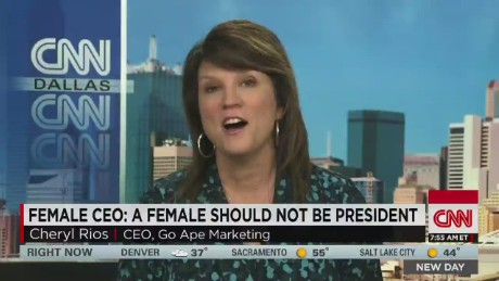 Female CEO: a female should not be president_00005923