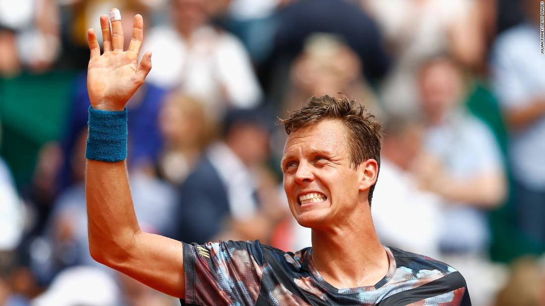 Berdych (pictured) would triumph over his French opponent 6-1 6-4.