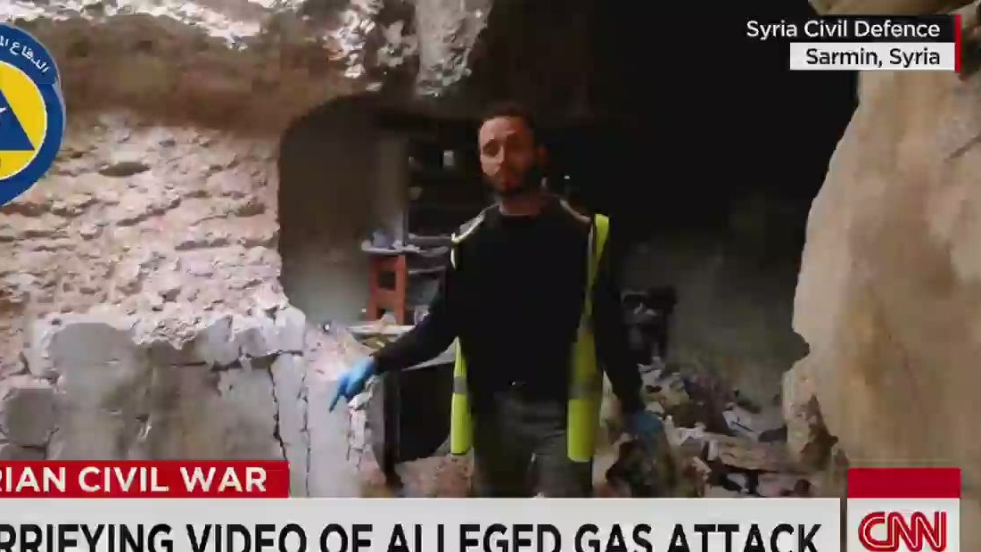Horrifying video of potential gas attack in Syria