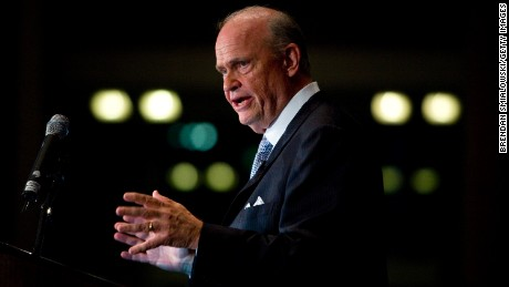 Actor and lawyer Fred Thompson speaks during the Republican Party of Virginia's 2007 Commonwealth Gala June 2, 2007 in Richmond, Virginia.