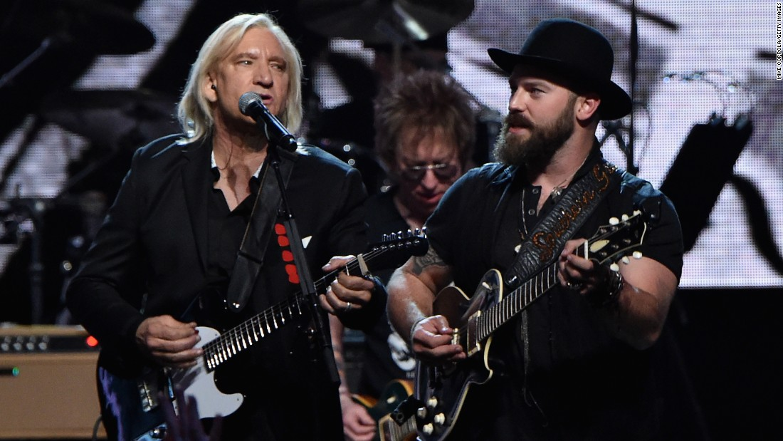 Joe Walsh and Zac Brown also performed at Saturday's Rock And Roll Hall Of Fame induction ceremony.