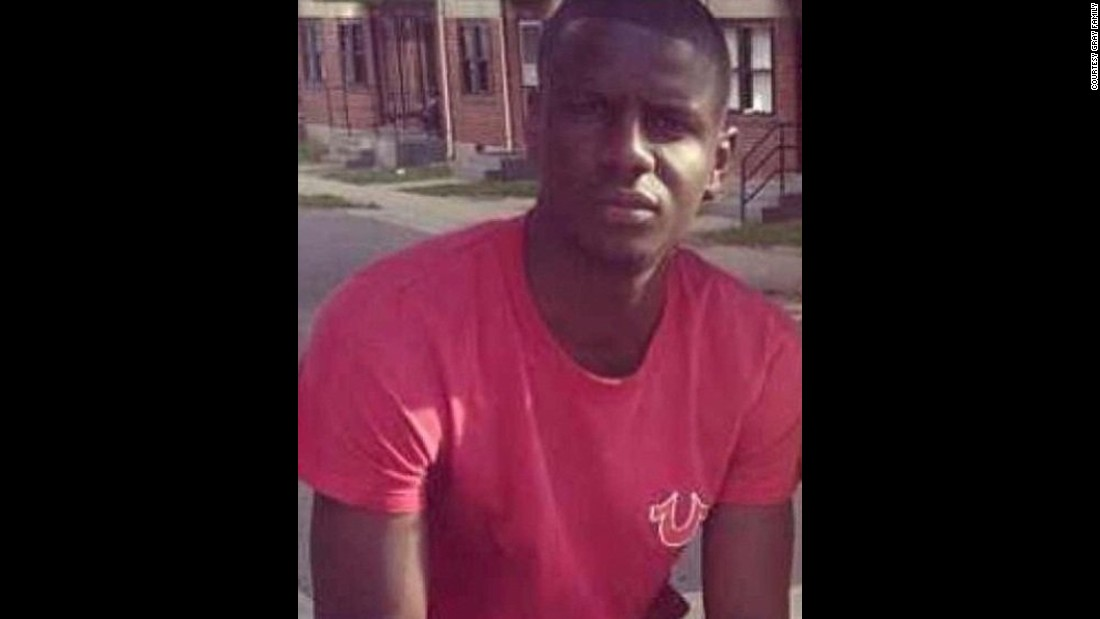 "Freddie Gray died on April 19 after allegedly suffering a devastating spinal injury while in police custody. Six Baltimore police officers have been indicted on charges connected with the <a href=""http://www.cnn.com/2015/04/27/politics/baltimore-freddie-gray-obama-loretta-lynch/"" target=""_blank"">African-American man's death.</a> All have pleaded not guilty. Activists have claimed race played a role in Gray's arrest and the way officers <a href=""http://www.cnn.com/2015/05/01/us/freddie-gray-baltimore-death/"" target=""_blank"">treated him</a>. Protests and riots broke out in Baltimore on the day of Gray's funeral."