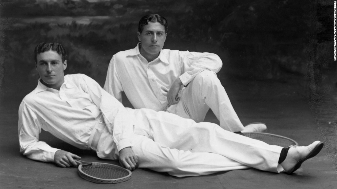 "Judging by this 1908 photograph of two tennis players lounging in crisp white shirt and trousers, the sport has come a long way in the last century.<br />""Back then, the men would play in long trousers and long shirts and sometimes even neckties. And the women would wear big skirts and occasionally corsets and big bellowing sleeves,"" says Ben Rothenberg, author of <a href=""http://www.teneues.com/shop-uk/the-stylish-life-tennis.html"" target=""_blank"">""The Stylish Life: Tennis.""</a><br />""They would look at someone on court today and think they were practically naked by their standards.""<br />With the French Open in full swing in Paris -- a city often described as one of the ""fashion capitals of the world"" -- we take a look back at some of the sport's most memorable, and downright bizarre, style moments.<br />"