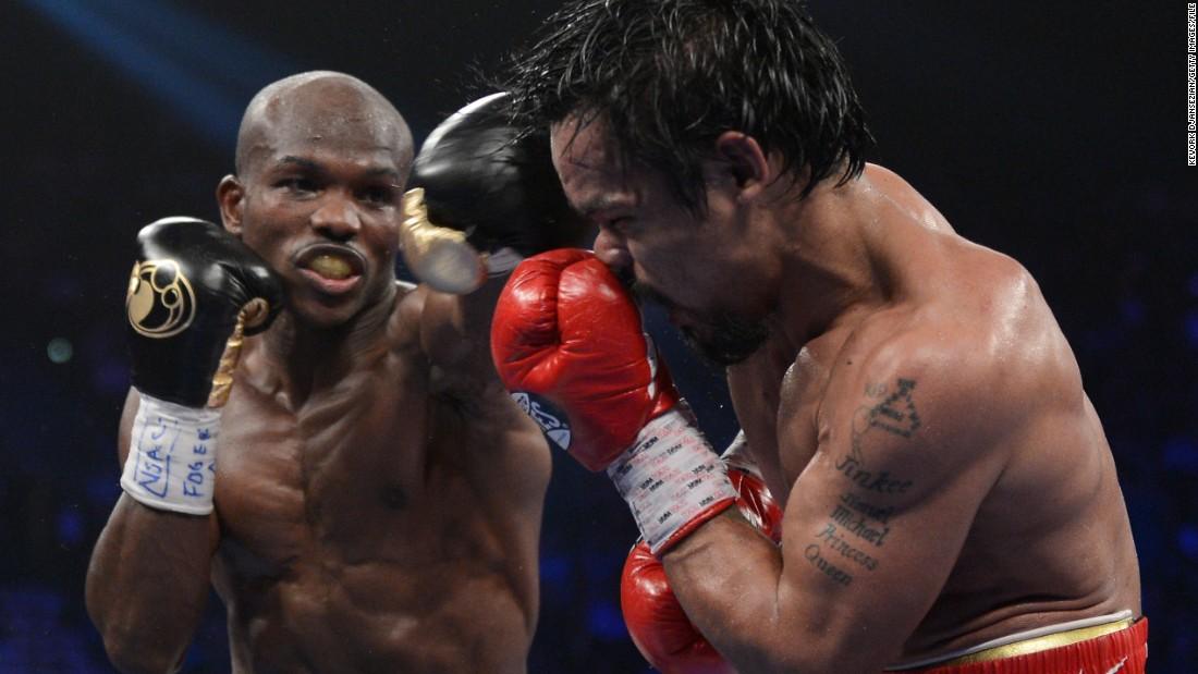 The fight itself wasn't an upset -- the result was. Pacquiao went into the ring favorite and performed as such, throwing and landing with a higher volume of punches than his American challenger.<br /><br />However, after twelve rounds the judges announced the fight in Bradley's favor, winning by a split decision (115-113,115-113, 113-115). It was Pacquiao's first defeat in four years and chaos ensued. The result was queried and judges from the WBO reviewed the fight, with an independent committee agreeing Pacquiao had won -- not that they could officially reverse the result. The Filipino would have to wait two years before his revenge, eventually winning by unanimous decision in 2014.