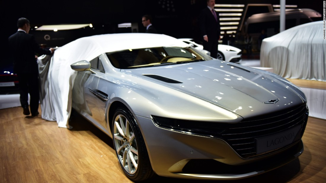 An Aston Martin limited series Lagonda luxury car model is unveiled at the Shanghai show. It's the first new Lagonda sedan in 25 years and only a limited number will be produced. Before you start saving, bear in mind that purchases will be by invitation only.
