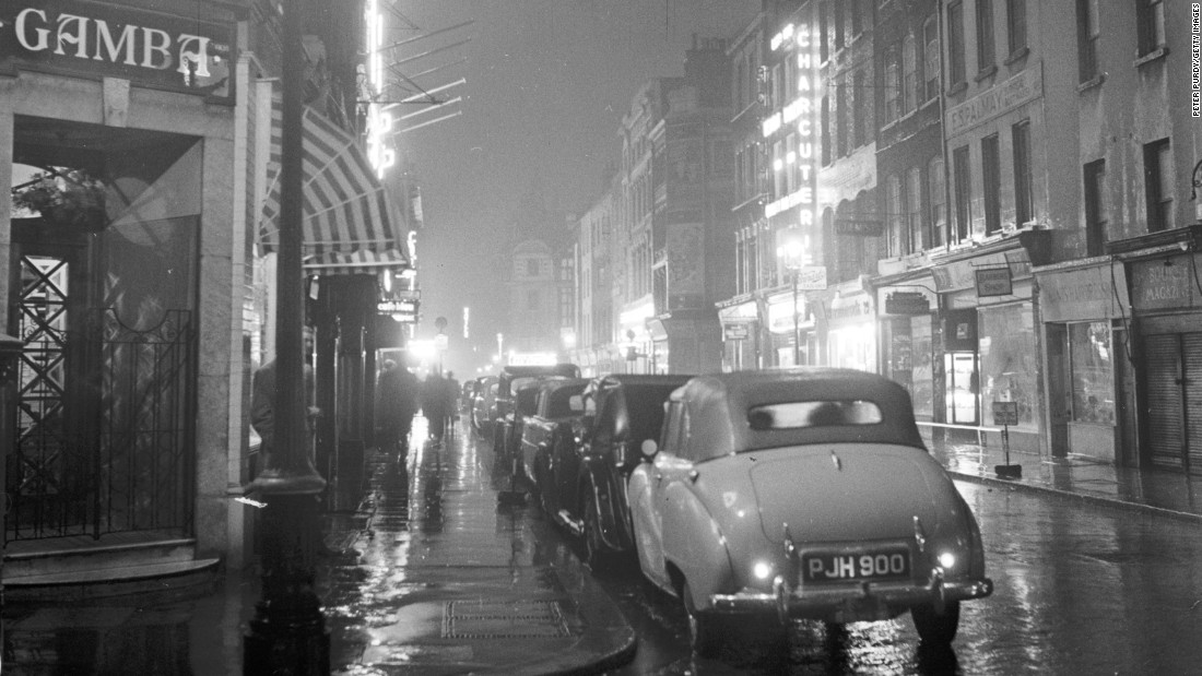 Frith Street in Soho, London, in 1955, at a time when the capital's rival gangs are battling for control of race-course betting.