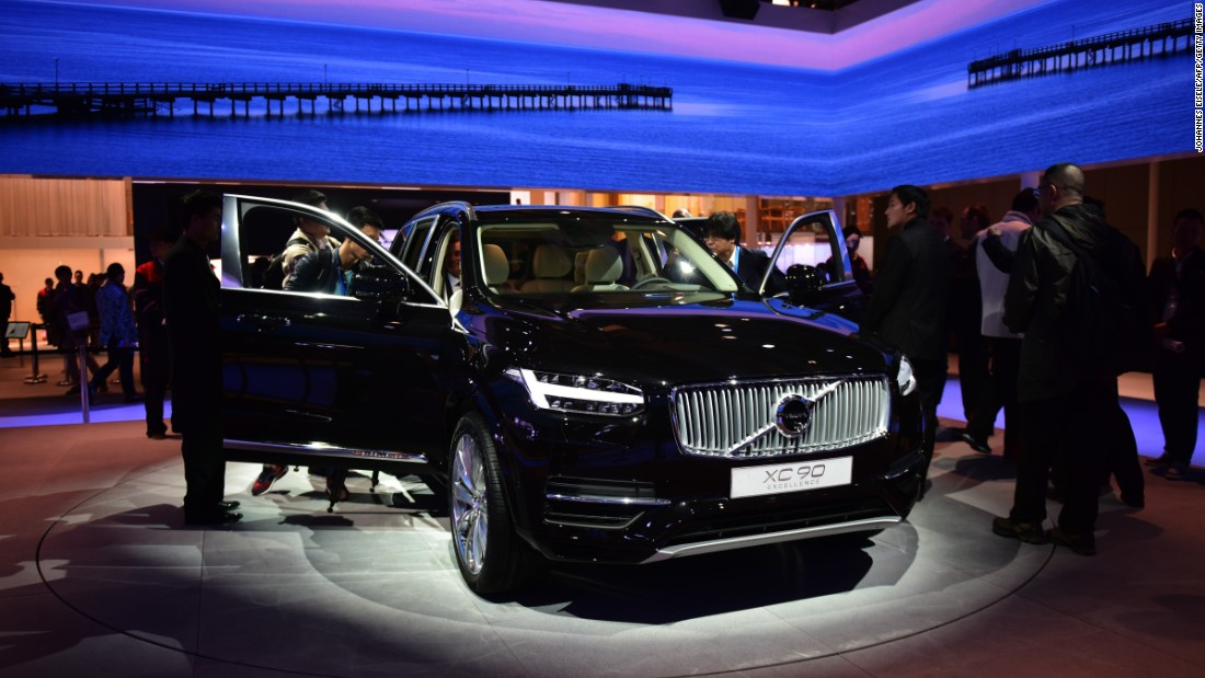 "Volvo shows off its XC90, which the company claims is ""the most luxurious"" car made in Volvo's history. It says there are fewer buttons and a more ""intuitive connection"" between the driver and the car -- for example, you can say ""Play the Boss"" and it'll blare out Bruce Springsteen."