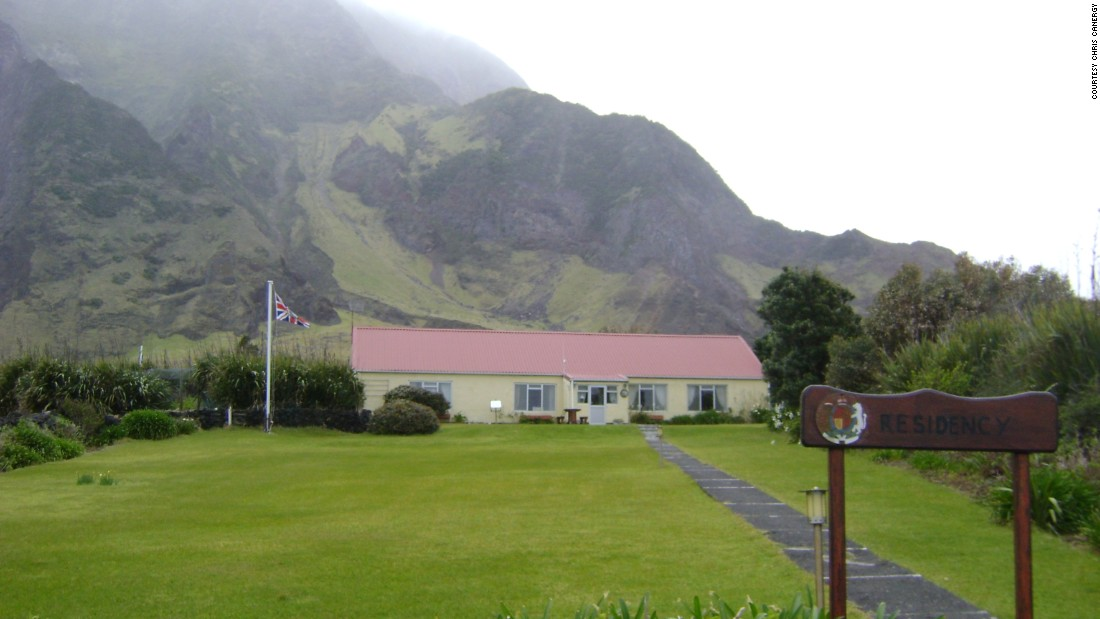 The seat of government in Tristan Da Cunha is hardly the White House -- but it could legitimately claim to have a better view.