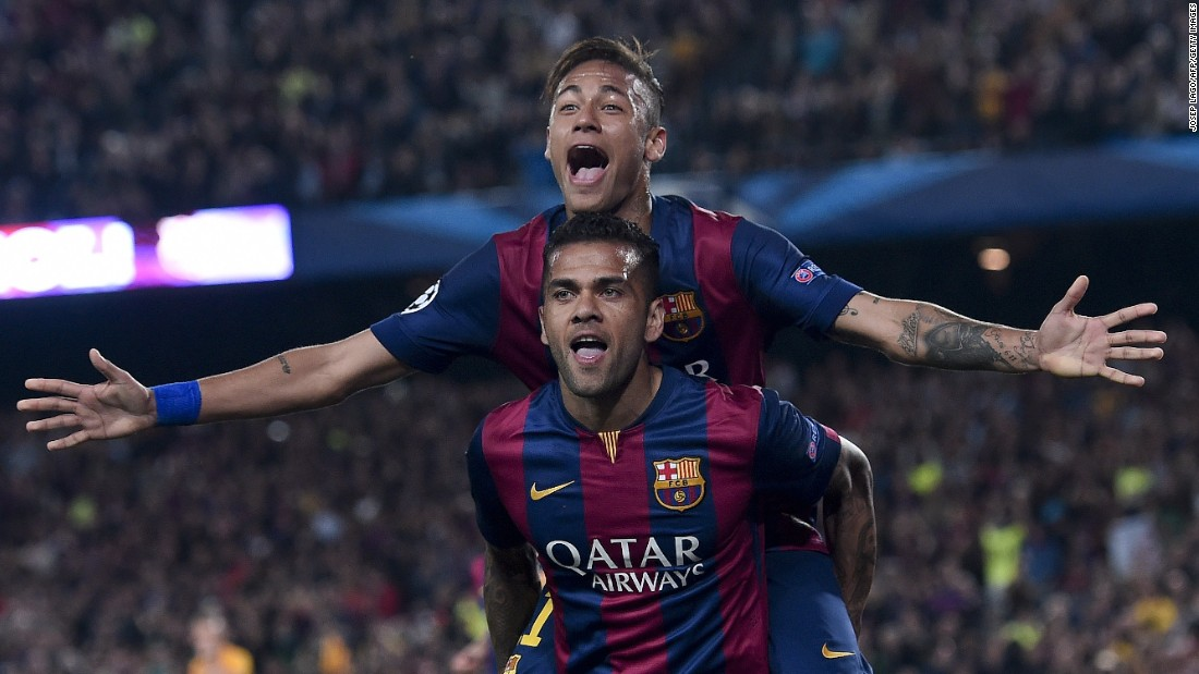 Barcelona's task was a lot easier than Bayern's after it won 3-1 away against Paris Saint-Germain in the first leg of its quarterfinal, and when Neymar grabbed a first half double the match was all but over.