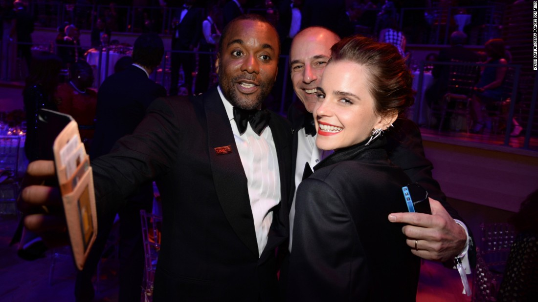 Filmmaker Lee Daniels, TV host Matt Lauer and actress Emma Watson at the TIME 100 Gala, held to celebrate TIME's annual 100 Most Influential People In The World.