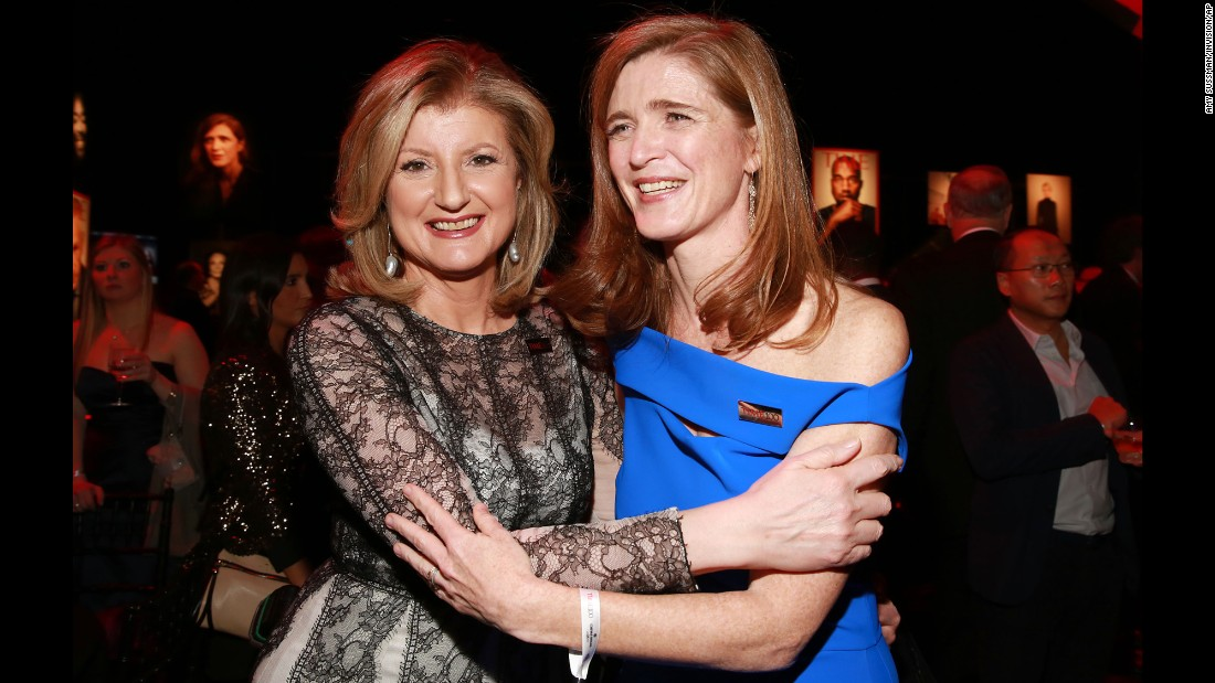 Arianna Huffington, left, and U.S. Ambassador to the United Nations Samantha Power.