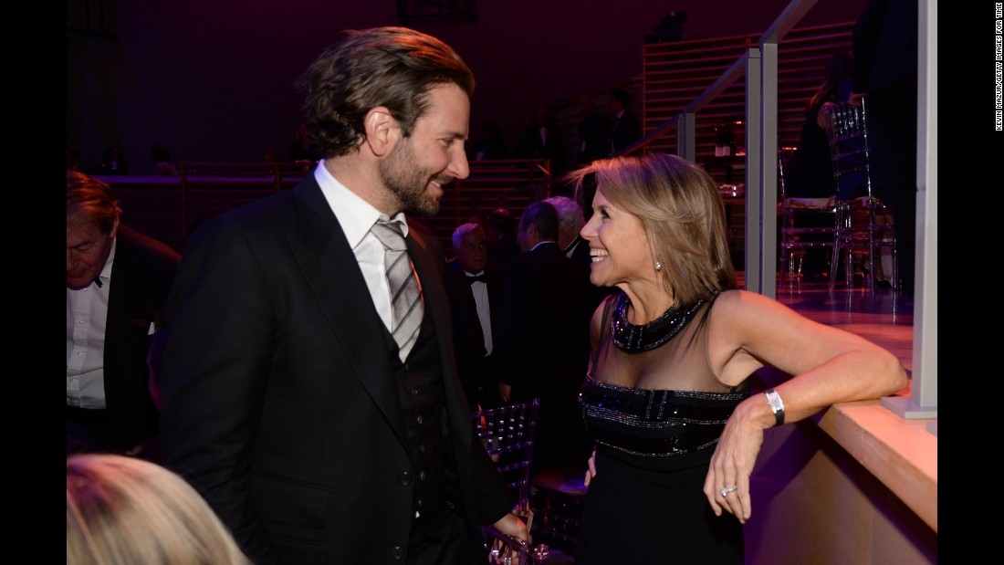 Bradley Cooper and Katie Couric.