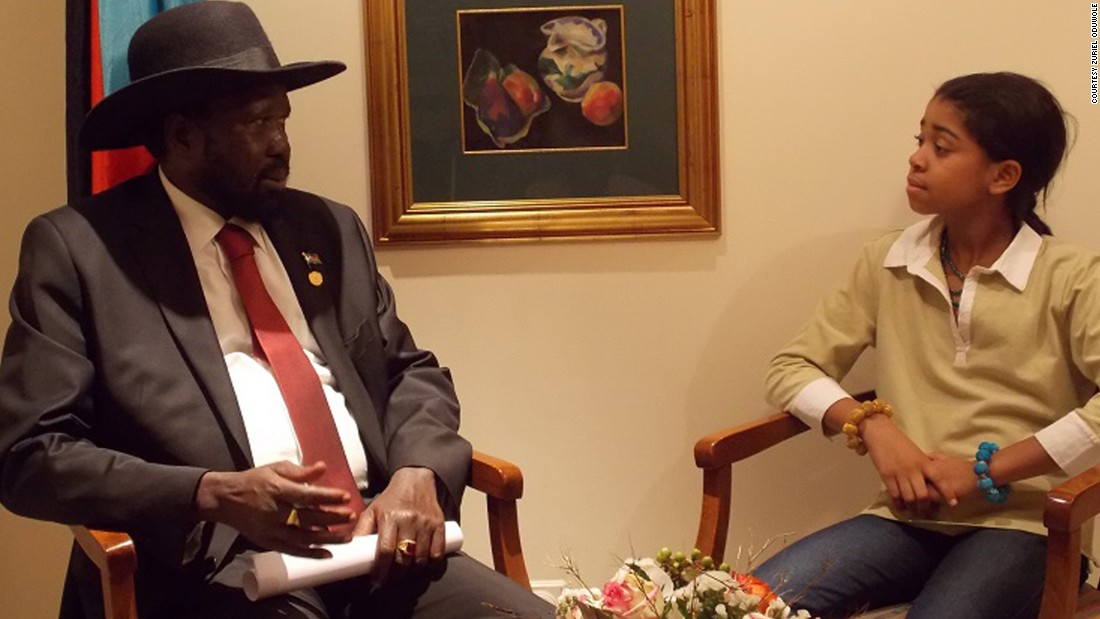 Oduwole sits down with the president of South Sudan, Salva Kiir Mayardit.