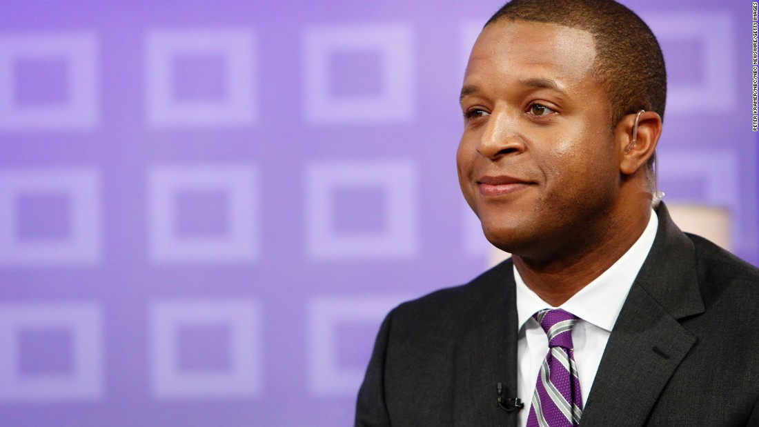 "Craig Melvin, a national correspondent for NBC's ""Today,"" spoke at Wofford University in Spartanburg, South Carolina, on May 17. Melvin is a 2001 Wofford graduate."