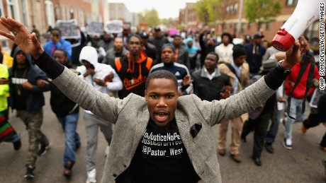 Tensions rise in the streets of Baltimore