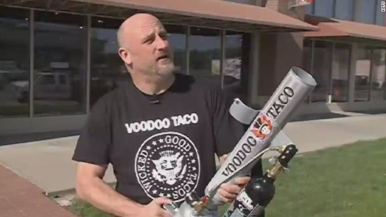 Eatery makes taco cannon because 'it sounded like fun'
