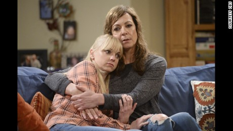 "Allison Janney and Anna Faris star as Bonnie and Christy Plunkett on ""Mom."""