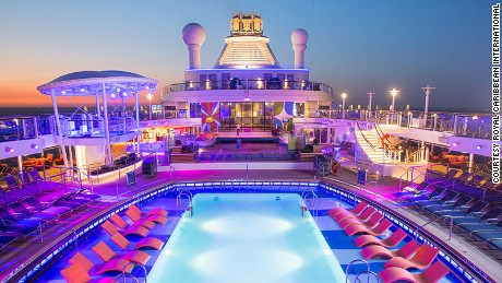 Anthem of the Seas cruise ship has three pools. It's unknown where the boy was found.