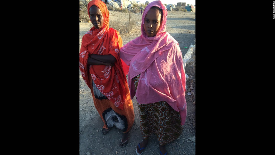 These Eritrean women live at the Ali Addeh refugee camp, a holding point for those fleeing into Djibouti.