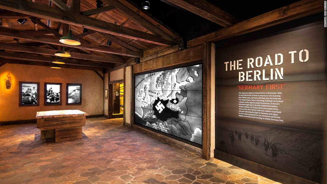 One of the most recent additions to this expanding museum is the Road to Berlin: European Theater Galleries, which illustrates the struggles to defeat the Axis of power through historic artifacts, period newsreels, and re-created battle scenes.