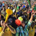 South Africa celebrates soccer world cup