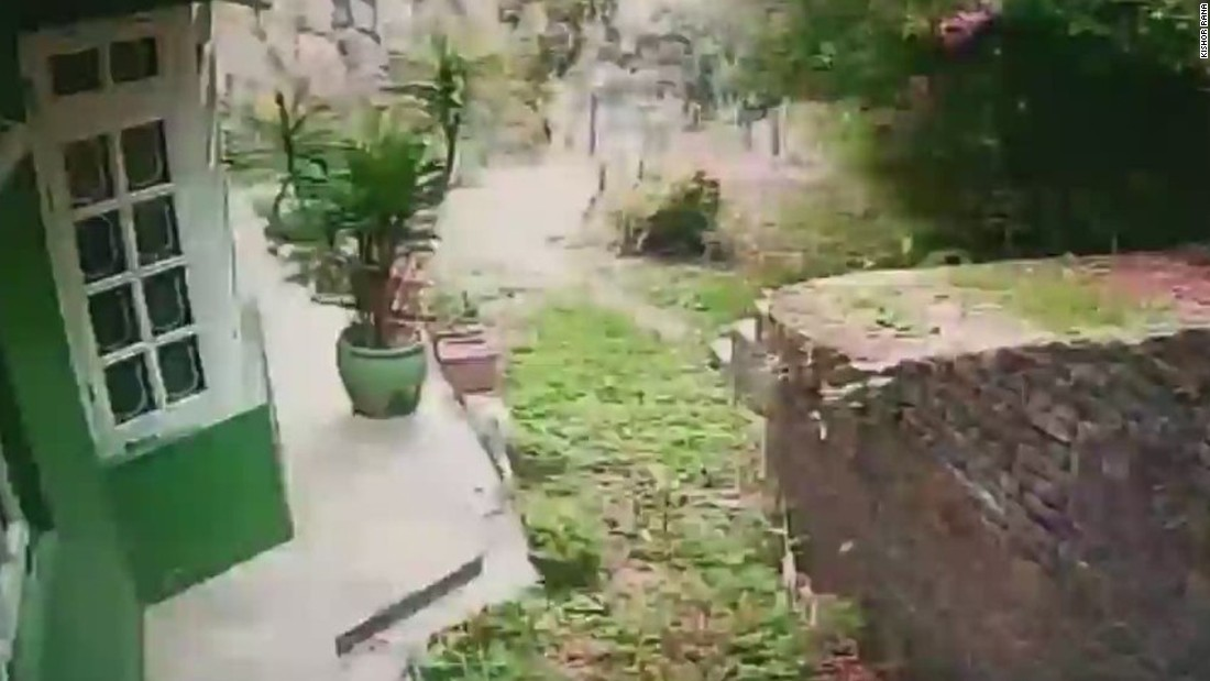 Video shows the moment Nepal earthquake hit