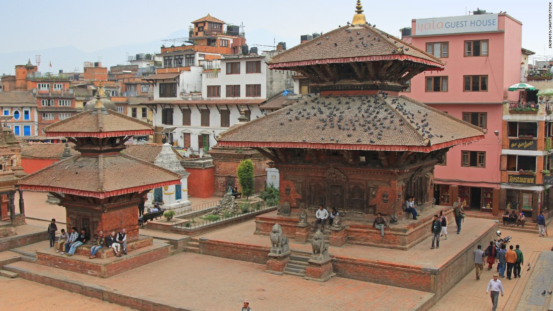 Patan Durbar Square in Patan, Nepal, a 5.5-mile drive from Kathmandu, is shown on April 13, 2014.