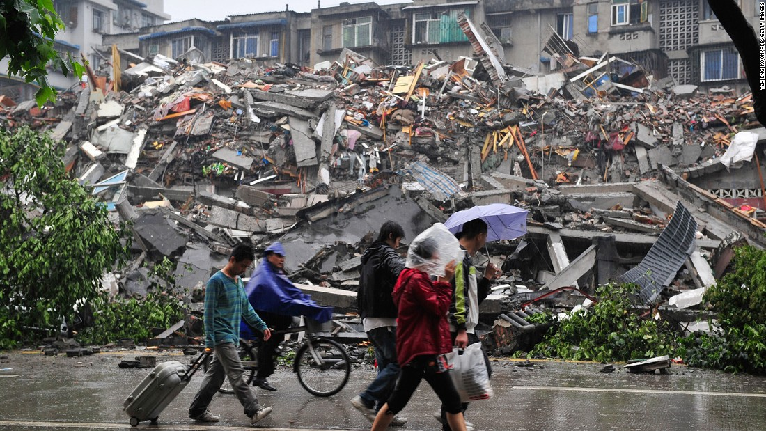The magnitude-7.9 earthquake that struck eastern Sichuan, China on May 12, 2008, killed 87,587 people and was felt in parts of Bangladesh, Taiwan, Thailand and Vietnam.