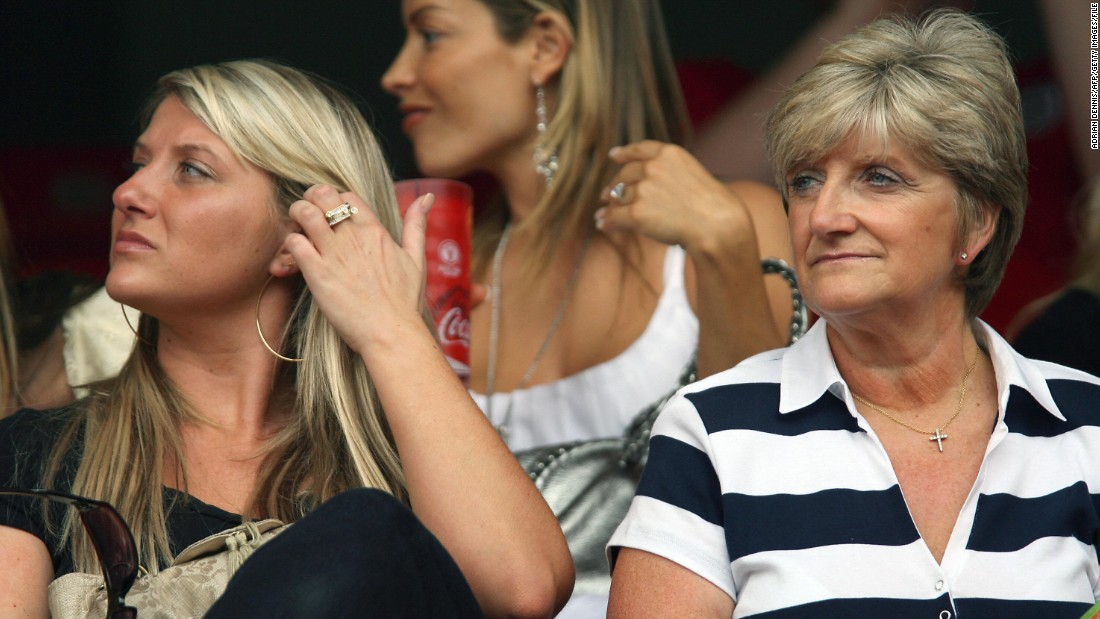 While his father's love of Manchester United inspired Beckham's early career, his mother Sandra's vocation -- hairdressing -- may have had a large influence in his appearance. Here she is pictured with Beckham's sister Joanne during the 2006 World Cup in Germany.