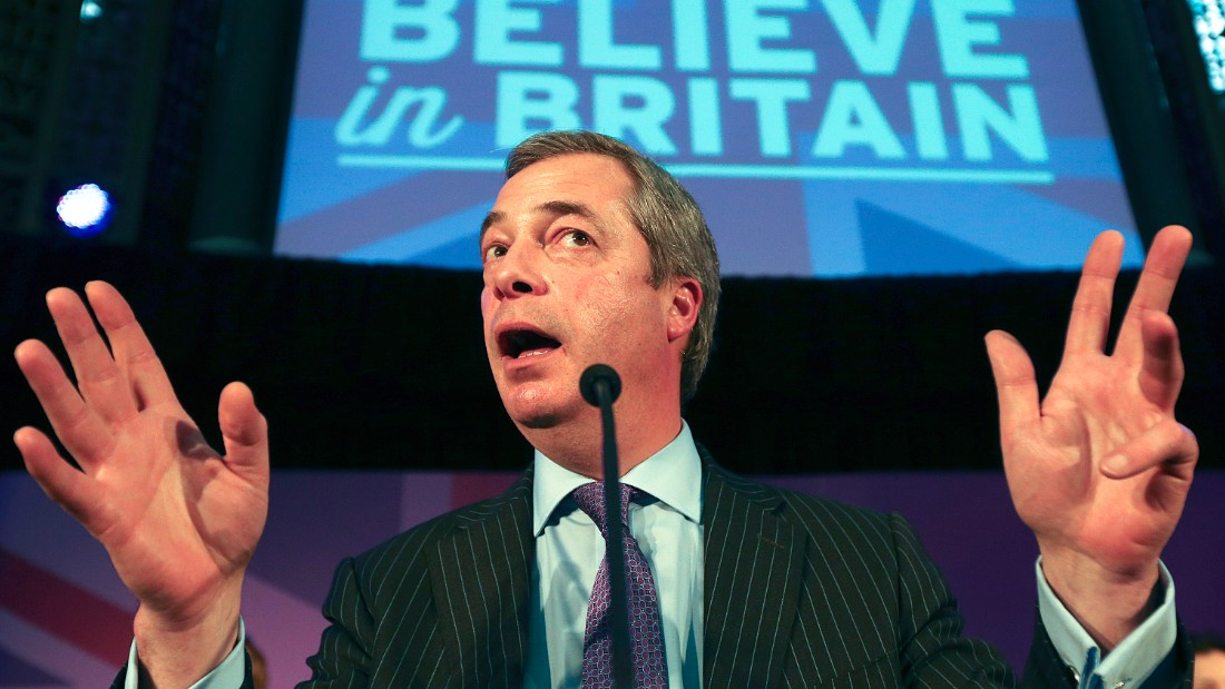Nigel Farage is the leader of the Independence Party, a populist political party.