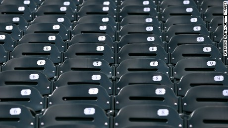BALTIMORE, MD - APRIL 29: The seats are emtpy before the Baltimore Orioles play the Chicago White Sox at an empty Oriole Park at Camden Yards on April 29, 2015 in Baltimore, Maryland. Due to unrest in relation to the arrest and death of Freddie Gray, the two teams played in a stadium closed to the public. Gray, 25, was arrested for possessing a switch blade knife April 12 outside the Gilmor Houses housing project on Baltimore's west side. According to his attorney, Gray died a week later in the hospital from a severe spinal cord injury he received while in police custody. (Photo by Patrick Smith/Getty Images)