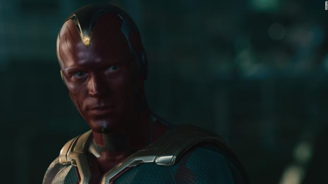 Paul Bettany, who has voiced Tony Stark's computer, JARVIS, for years, finally takes a role onscreen as the Vision.