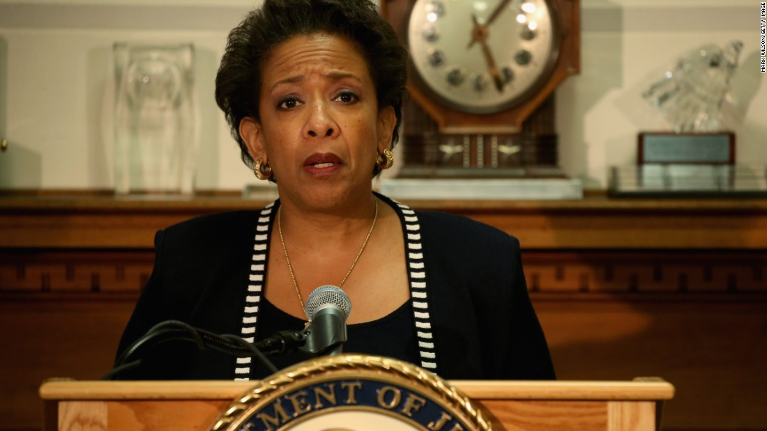 "Newly sworn-in Attorney General Loretta Lynch calls the violent Baltimore protests counterproductive. ""It's easy to see Baltimore as a symbol of the issues we must all deal with,"" she said, but it's also a city ""struggling to balance great expectations and needs with limited resources."""