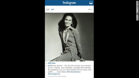 This image was posted Tuesday to the Diane von Furstenberg Instagram account but quickly pulled down.
