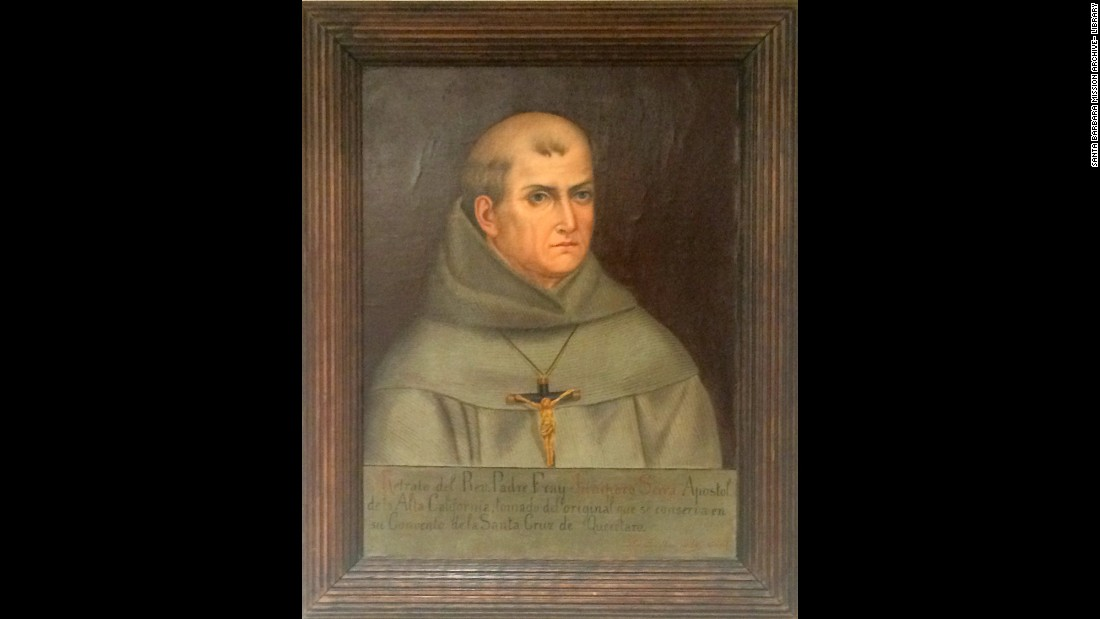 "<a href=""http://www.cnn.com/2013/03/14/world/pope-francis-fast-facts/index.html"">Pope Francis</a> will canonize 18th-century Spanish friar Junipero Serra in September <a href=""http://www.cnn.com/2015/06/30/us/us-papal-visit/index.html"">when he visits the U.S</a>. Serra is credited with founding several missions in California that were created to spread the Christian gospel to the native peoples of that part of North America. Some Native Americans oppose Serra's canonization; they say his work contributed to the oppression of their ancestors."