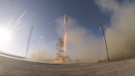 Jeff Bezos' Blue Origin tests a new reusable rocket.
