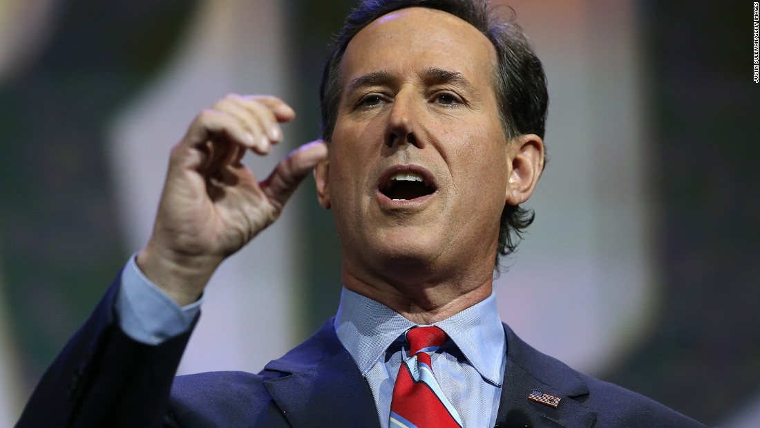 Santorum speaks at the NRA-ILA Leadership Forum on April 10 at the NRA annual meeting in Nashville, Tennessee.