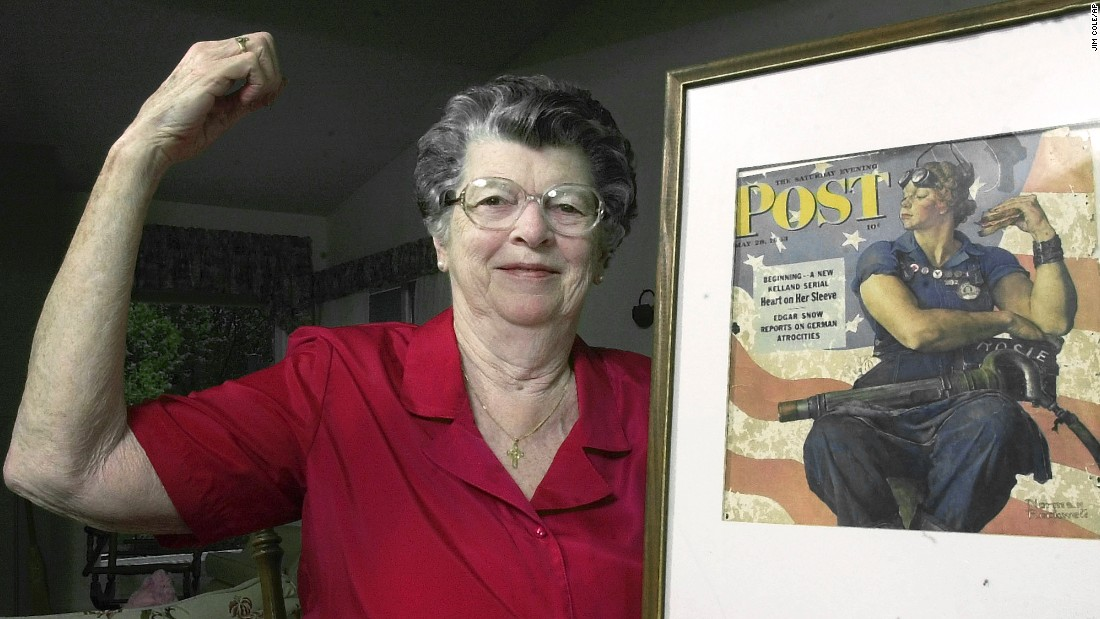 "<a href=""http://www.cnn.com/2015/04/23/living/rosie-the-riveter-dies/index.html"" target=""_blank"">Mary Doyle Keefe</a>, the model for Norman Rockwell's ""Rosie the Riveter,"" died at her home in Simsbury, Connecticut, on April 21. She was 92."