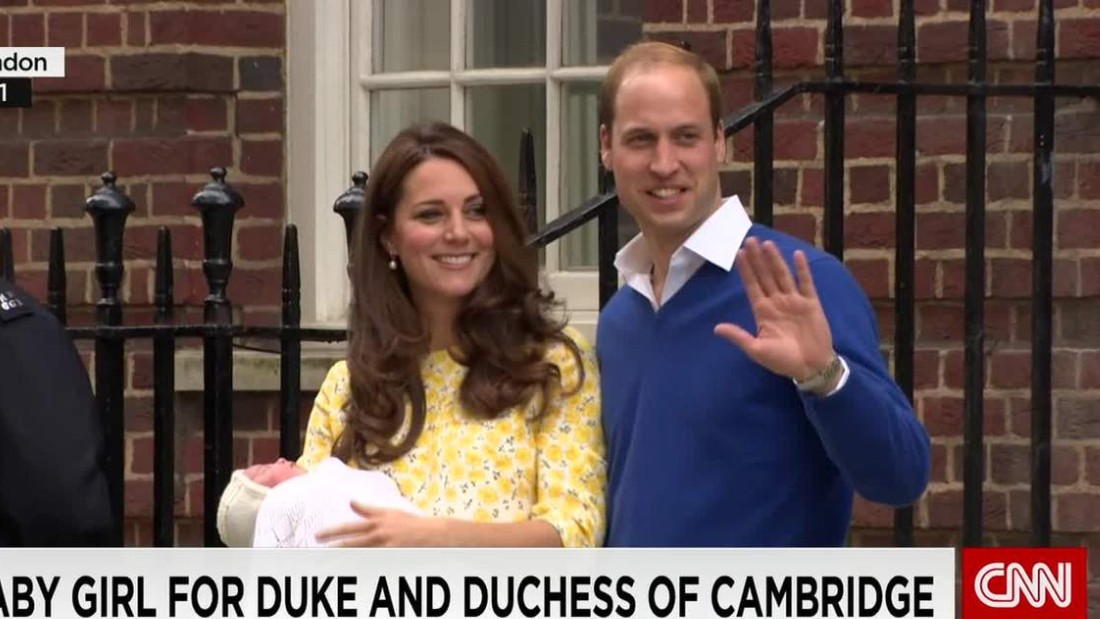 Welcome to the royal family: Catherine gives birth to a girl