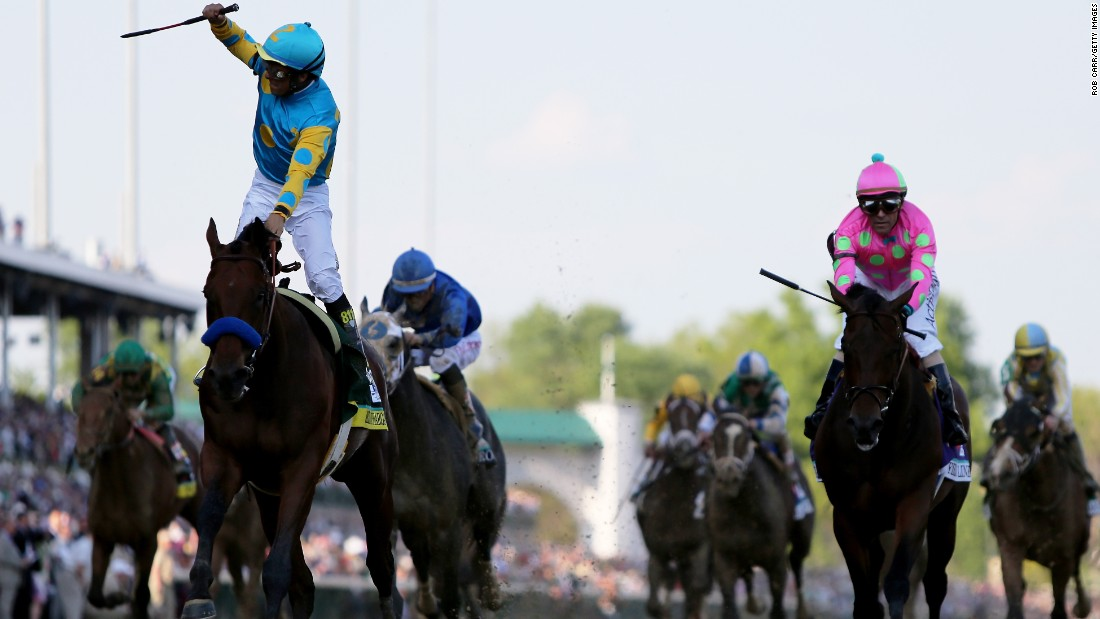But Espinoza brought American Pharoah home for their fifth successive victory together for owner Ahmed Zayat.
