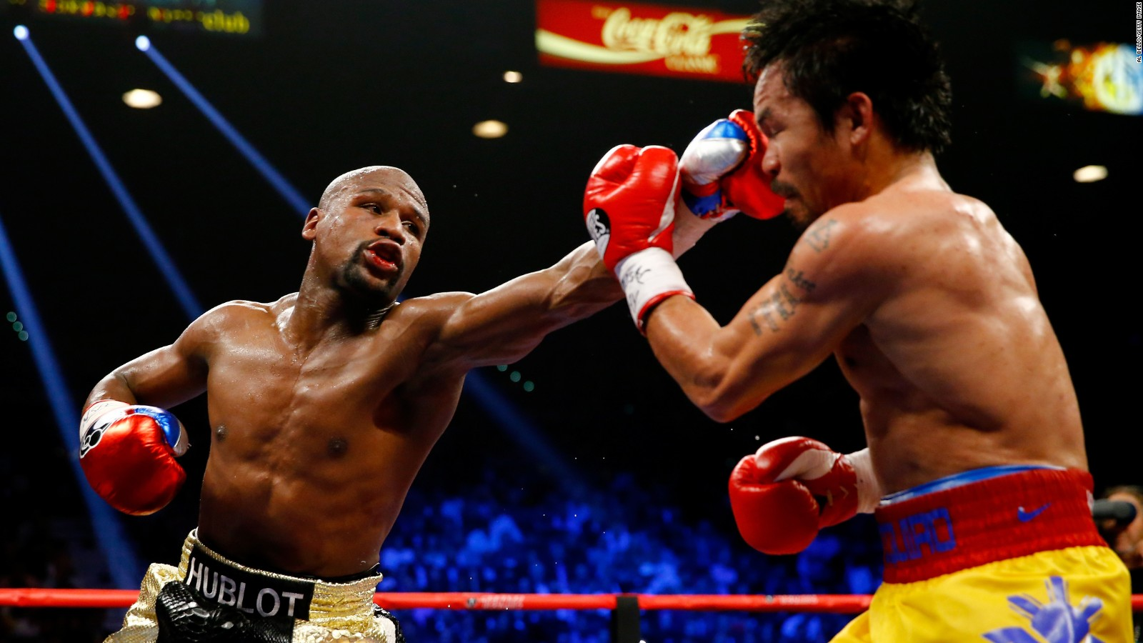 undefeated floyd mayweather decisions manny pacquiao cnn