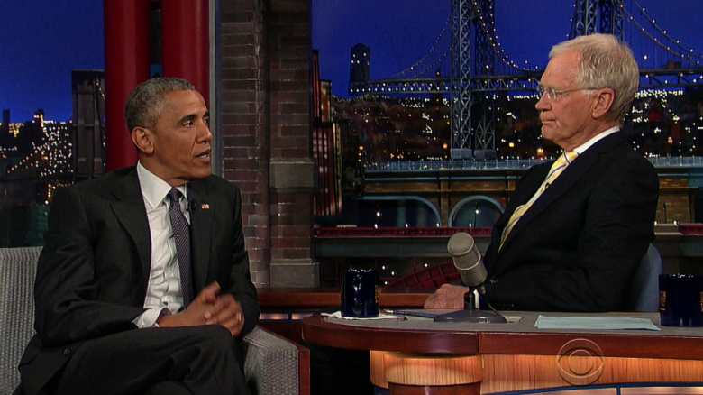 Obama makes final appearance on 'The Late Show'