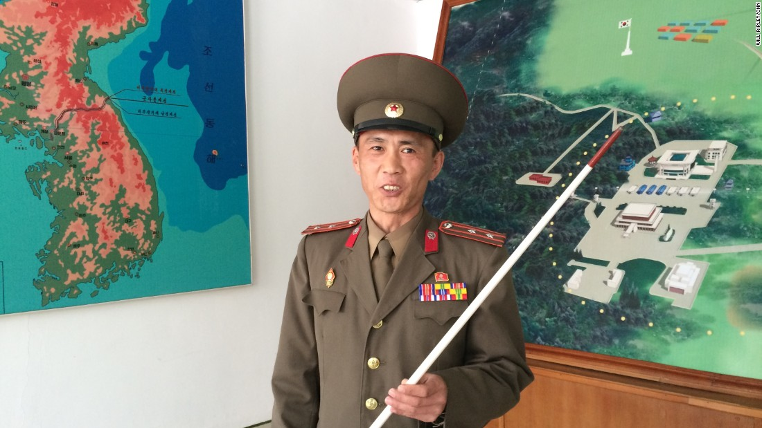Junior Lt. Colonel Nam Dong Ho is part of North Korea's standing army of more than one million. An estimated three quarters are  based near the heavily fortified border, which has been a flashpoint for violence at times.