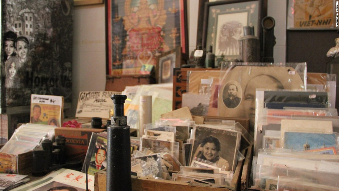 Old photographs sit in boxes for sale in a shop in the western Cambodian city of Battambang. Cambodians fleeing the Khmer Rouge in the 1970s left many family heirlooms behind.