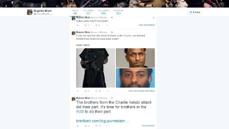 Tweets that appear to be from American Mohamed Abdullahi Hassan
